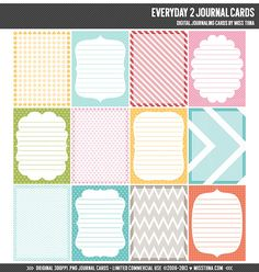 Everyday 2 Digital Journal Cards 3x4 project life by MissTiina