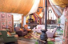 The Weasley tent from Harry Potter and the Goblet of Fire - now this is what I call camping!