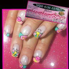 Mas trabajos bellos de esta nena.... Love Nails, Nail Art, Color, Work Nails, Short Nails, Nail Designs, French Nails, Fingernail Designs, Ongles