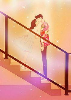 Spirit Finger - Akhirnyaaa Korean Illustration, Couple Illustration, Manga Couple, Couple Art, Spirit Fingers Webtoon, Anime Manga, Anime Art, Webtoon Comics, Happy Pills