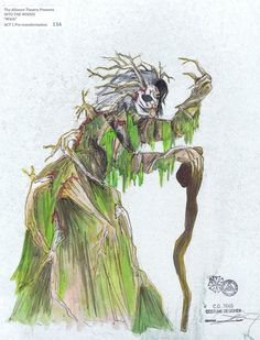 Into The Woods. Witch pre-transformation.  The Alliance Theatre. Costume design by Lex Liang.