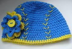 Crochet Girl Baseball Hat in Team Colors by MyLittlePeachCrochet, $18.00