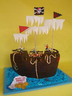 Super Pirate Ship Cake