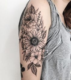 Caring For A New Tattoo - Hot Tattoo Designs Mandala Tattoo Design, Mandala Arm Tattoo, Tattoo Designs, Sunflower Tattoo Sleeve, Sunflower Tattoo Shoulder, Sunflower Tattoos, Floral Tattoo Sleeves, Flower Tattoos On Shoulder, Shoulder Sleeve Tattoos