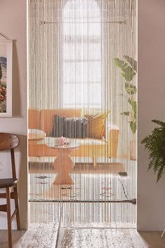 Shop Bamboo Beaded Curtain at Urban Outfitters today. We carry all the latest styles, colors and brands for you to choose from right here. - Would be nice in our bathroom in front of the shelves Beaded Curtains Doorway, Bamboo Beaded Curtains, Doorway Curtain, String Curtains, Diy Curtains, Bead Curtains, Patterned Curtains, Window Curtains, Ideas Armario