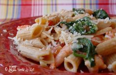 Penne Pasta with Fresh tomatoes and Spinach