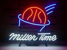 Miller Time Basketball Classic Neon Light Sign 17 x 14