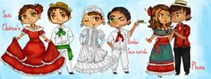 Puerto Rican Traditional Clothing | LM: Bailes de Puerto Rico:. by chibi098