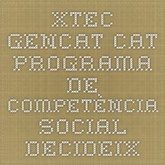 Programa de competència social Decideix CM