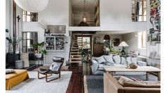 An 1870s Church Turned Stylist's Family Home In South Australia Antique White Usa, Linen Couch, Pine Doors, Arched Doors, The Design Files, South Australia, Living Room Inspiration, Living Area, Living Rooms