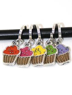 Cupcakes maskemarkørsett | stitchmarkers with cupcakes