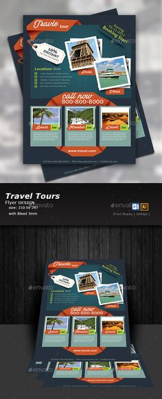 Travel Tours Flyer Templates - Flyers Print Templates