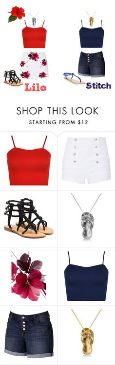 """Lilo &Stitch"" by marshmallowkisses ❤ liked on Polyvore featuring WearAll, Pierre Balmain, Mystique, Allurez, Valentino, Jennifer Lopez and American Rag Cie"