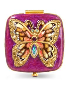 Bella+Butterfly+Compact+by+Jay+Strongwater+at+Neiman+Marcus.