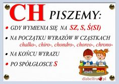 Plansze z zasadami ortograficznymi dla uczniów klas I-III | Dla Belfra Polish To English, Learn Polish, Aa School, Poland History, Polish Language, Our Kids, Teaching English, Teaching Kids, Study