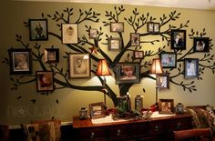 A silver tree with white leaves would look fab on our aubergine kitchen wall