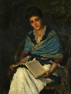 (woman with a book) by William Oliver