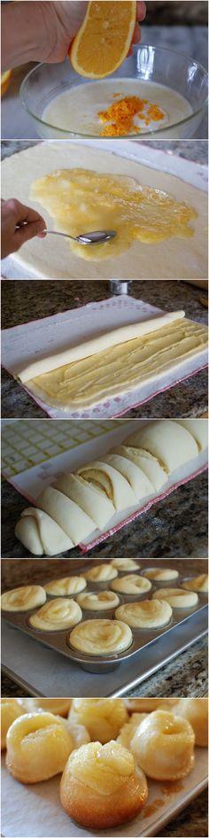The BEST orange sweet rolls