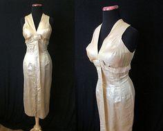 Dazzling 1950's Designer Liquid Gold Lurex Cocktail by wearitagain
