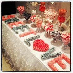 letter candy dishes candybar couture