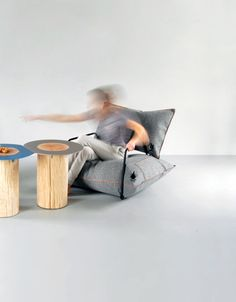 Inflatable Wool Air Armchair by Malafor 4