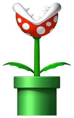 Piranha Plants from Super Mario Brothers Super Mario Party, Bolo Super Mario, Super Mario Birthday, New Super Mario Bros, Mario Birthday Party, Super Mario Brothers, 7th Birthday, Yoshi, Mario Y Luigi