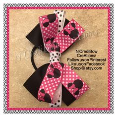 A personal favorite from my Etsy shop https://www.etsy.com/listing/508890420/minnie-mouse-hair-bow-pink-hair-bow