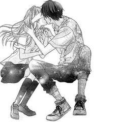 Image via We Heart It https://weheartit.com/entry/169138762 #animegirl #blackandwhite #girl #kiss #love #manga #monochrome #OMG #tumblr #animecouple #boymanga #mangacap
