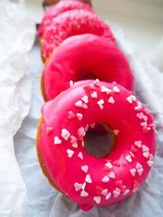 Pink Donuts aus dem Ofen - ° Verenas Welt °° Verenas Welt °