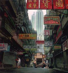 """Ghost in the Shell"" (Japanese: 攻殻機動隊) written by Kazunori Itō, directed by Mamoru Oshii Cyberpunk City, Ville Cyberpunk, Futuristic City, Mamoru Oshii, Art Anime, Ghost In The Shell, Animation Background, Art Graphique, Environment Design"