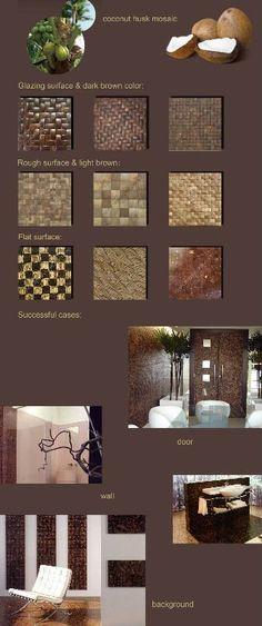 Natural coconut wood tiles. Gorgeous!