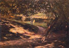 """Władysław Podkowiński  (1866-1895) 🇵🇱🎨 """" W ogrodzie""""Ok. 1892"""