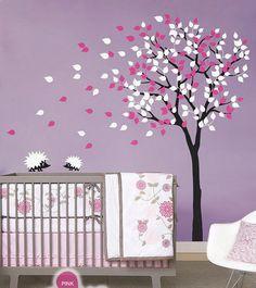 2 Hedgehog Ing Tree Nursery Kids Baby Wall Decals Vinyl Art Decor Mural