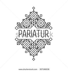 Find Art Deco Monochrome Luxury Antique Hipster stock images in HD and millions of other royalty-free stock photos, illustrations and vectors in the Shutterstock collection. Logo Restaurant, Hotel Logo, Art Deco Logo, Cafe Branding, Branding Design, Logo Design, Monochrome, Bar Logo, Hipster Logo