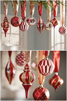 Christmas ornaments aren't just for the Christmas tree. These ornaments from the Cranberry Frost Collection by Martha Stewart Living look so festive hanging above a holiday dining table. We have ornaments and tree toppers in the colors and finishes for the Christmas decor you've dreamed of. Click through to start planning your holiday decorations.