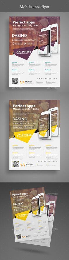 #Mobile #App #Flyer - Commerce Flyers Download here: https://graphicriver.net/item/mobile-app-flyer/19583887?ref=alena994