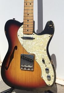 Vintage 1969 Fender Telecaster Tele Thinline Sunburst FEATHER 5lbs 12z