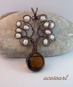 Smokey quartz and pearls by acesoart