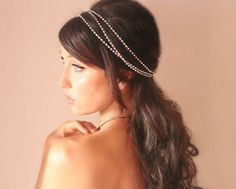 Bridal headband, rhinestone wrap, tiara, wedding headpiece, wedding accessory, bridal headpiece, boho, winter - Le Luvre -