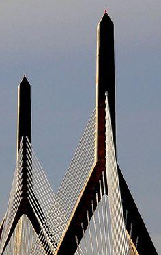 Leonard P. Zakim Bunker Hill Memorial Bridge - Spans the Charles River in Boston, Massachusetts