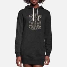 Discover augustinet designs online | Spreadshirt Hoodie Dress, Hoodies, Sweatshirts, Dress Brands, Custom Clothes, Rib Knit, Printed Shirts, Sweaters, Long Cut