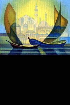 Oeuvre du peintre Toffoli - Le rêve sur Constantinople