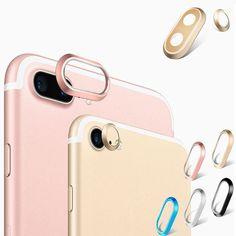 Colorful Metal iPhone 7 Plus Lens Protectors iPhone 7 Plus Camera Lens Protectors – Rose Gold / Gold / Silver / Blue / Black Metal Ring iPhone 7 Plus Camera Lens Guard Protection