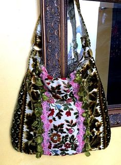 Pretty Floral Boho Bag With Pink