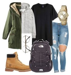 """""""Untitled #192"""" by kingrabia on Polyvore featuring H&M, Timberland, Tommy Hilfiger, ZeroUV and The North Face"""