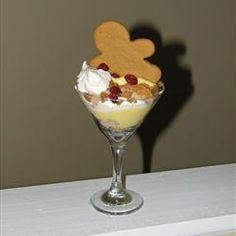 Gingerbread Eggnog Trifle #christmas