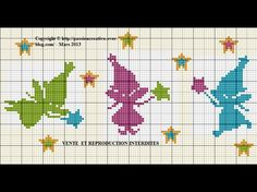 Fairy cross stitch pattern border or accent: http://broderiemimie44.canalblog.com/