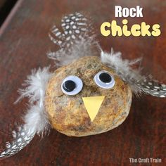 Rock chick craft Rock chick craft: Easy rock chick craft idea made from items gathered from nature. This is a great Spring craft for kids and is perfect for preschoolers. Spring Crafts For Kids, Fall Crafts, Creative Activities, Preschool Activities, Nature Activities, Music Activities, Felt Tip Markers, Orange Paper, Painted Rocks Kids