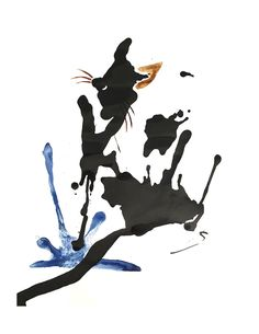 Cat, abstract - India ink and shellac-based ink on watercolour paper India Ink, Shellac, Ink Art, Watercolor Paper, Design Inspiration, Abstract, Cats, Summary, Gatos