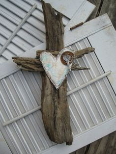 Repurposed Driftwood Cross by scrapsmakethenest on Etsy, $15.95